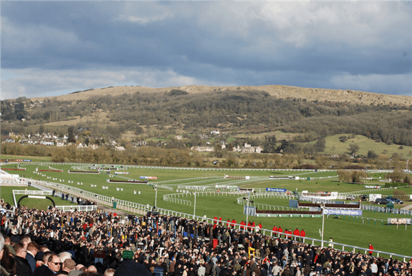A general view of the stands at the Cheltenham Festival.