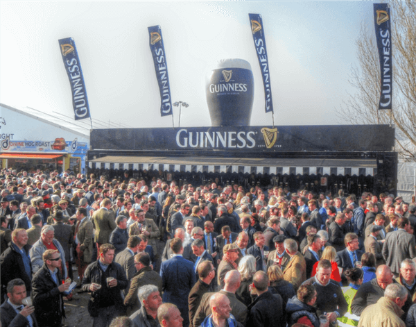 The Guinness tent is a must-visit hot-spot during the Cheltenham Festival.