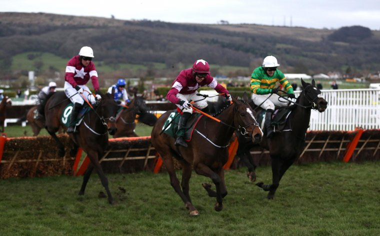 Early Doors (right) comes through to win the 2019 Martin Pipe.