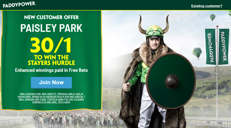 Paddy Power Paisley Park price boost