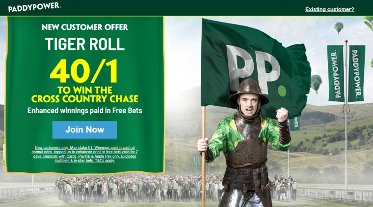 Tiger Roll Price Boost 40s Paddy Power