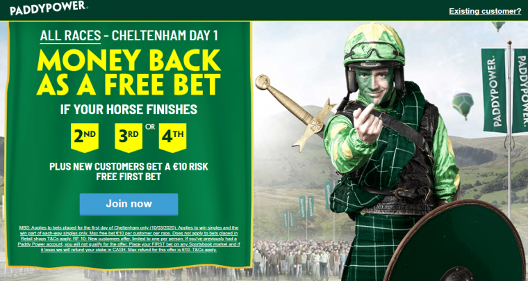 Paddy Power money back day one