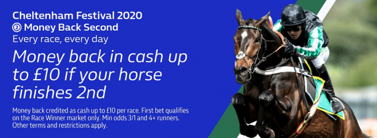William Hill Cheltenham Festival money back