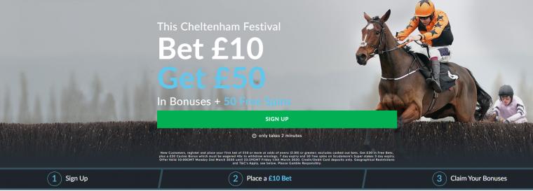 BetVictor get 10 get 50 cheltenham offer