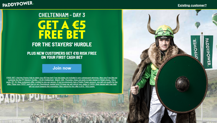 Paddy Power Stayers Hurdle free bet