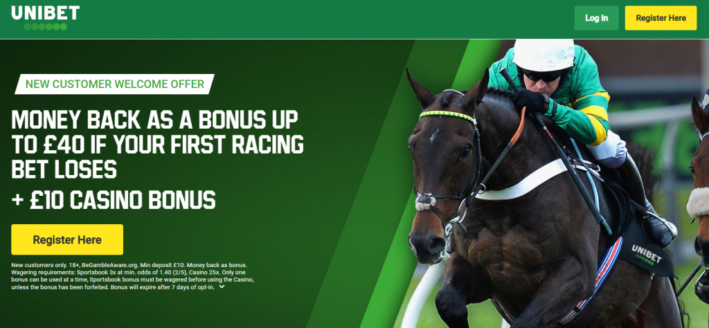 Unibet 40 free bet special offer